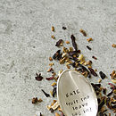 Personalised silver plated tea spoon