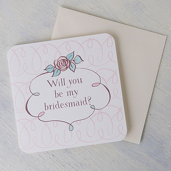 'Will You Be My Bridesmaid' Card