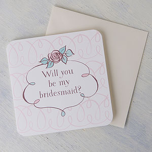 'Will You Be My Bridesmaid' Card - wedding stationery
