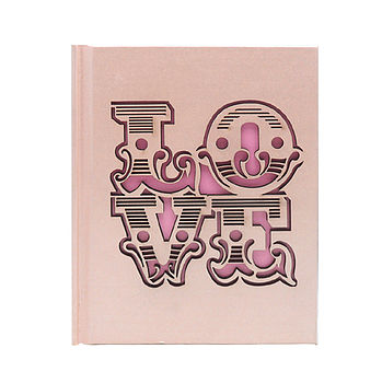 Laser Cut Love Notebook