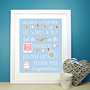 Personalised Wedding Print
