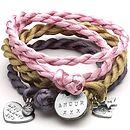 Personalised Satin Charm Wrap Bracelet