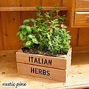 Personalised Crate With Italian Herb Seeds