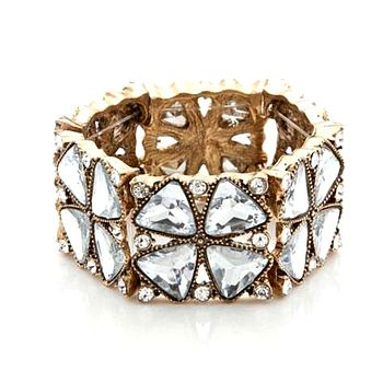 Statement Crystal Cuff Bracelet