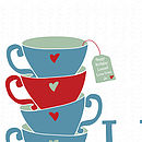 'Life Is Like A Tea Cup' - close up of tag personalisation option