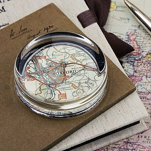 Map Personalised Location Paperweight - office & study