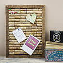 Wine Cork Handmade Recycled Noticeboard