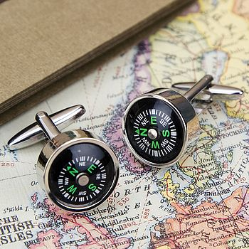 Working Compass Explorer Cufflinks