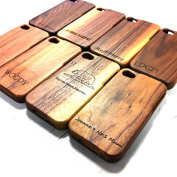 Personalised Wooden Cover For Iphone