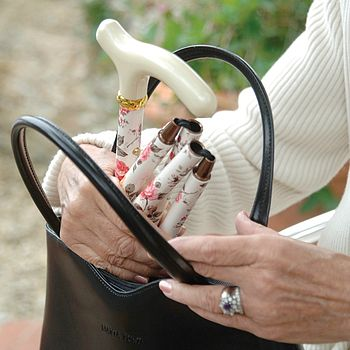 Ladies Floral Folding Walking Cane