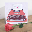 'P.S I Love You' Typewriter Card