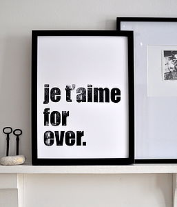 'Je T'aime For Ever.' Poster
