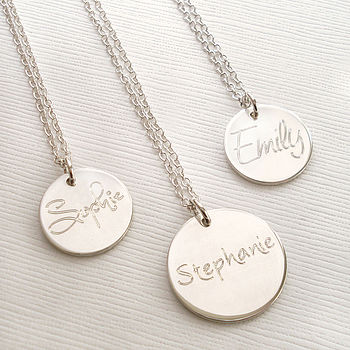 Personalised Engraved Name Necklace