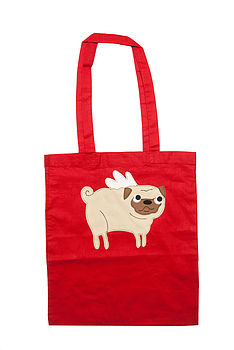 Red Pug Tote Bag