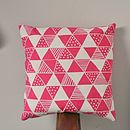 Triangle Mania Cushion Cover