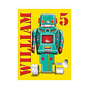Personalised Sparking Green Robot