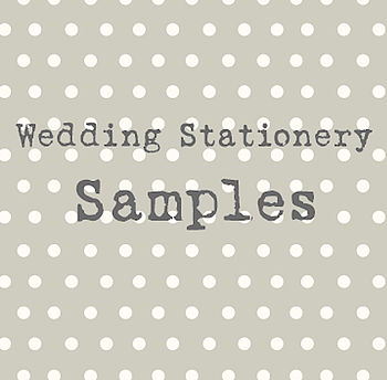 Wedding Stationery Samples