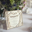 Wedding Menu Personalised Wooden Keepsake