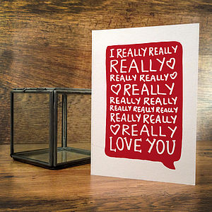 Love You Card - valentine's cards