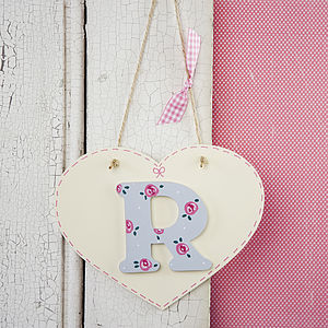 Flower Girl Or Bridesmaid Initial Heart