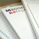 Pack Of Three Personalised Notepads