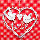 Vintage Style Cream Heart With Birds