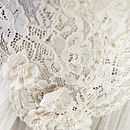 Liliana Cream Pearl Beaded Bridal Juliet Cap
