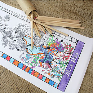 Party Pack Personalised Colour In Scrolls - baby & child