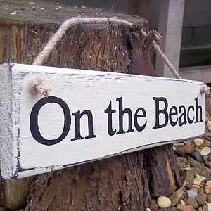 Beach Art Sign Personalised - outdoor decorations