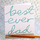 'Best Ever Dad' Card