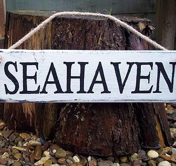 Beach Art Sign Personalised
