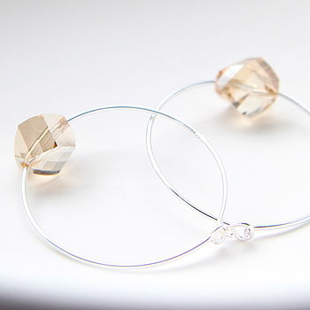 Hoop Earrings Elaborated With Swarovski Crystals