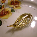 Diamante Vintage Leaf Brooch