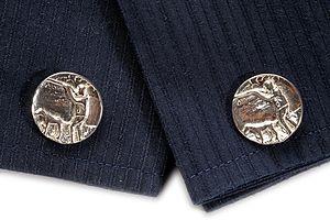 Silver Huntsman And Dog Cufflinks