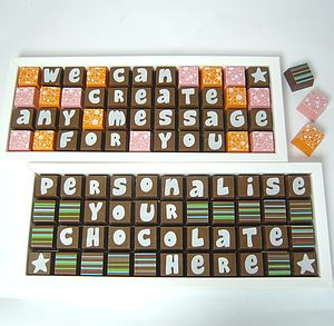Personalised Chocolates In Large Box - novelty chocolates