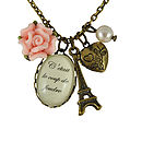 French Love At First Sight Charm Necklace