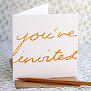 Thumb you re invited card