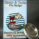 Embroidered Seaside Pin Badge