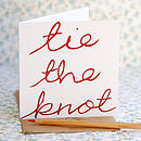 'Tie The Knot' Card