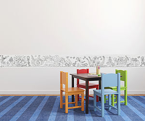 Colour In Wallpaper Border
