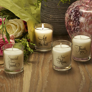 Memorable Messages Scented Candle Collection - table decorations