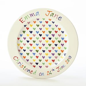 Personalised Hand Painted Love Heart Plate
