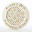 Love Heart Large Plate with inscription