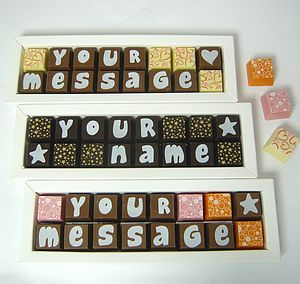 Personalised Chocolates In Small Box - home
