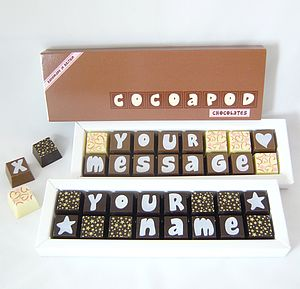 Personalised Chocolates In Small Box - gifts for her