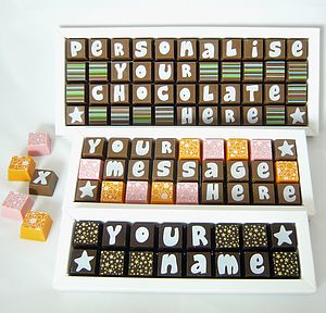 Personalised Box Of Chocolates - gifts to eat & drink