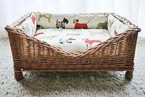 The Man's Best Friend Raised Wicker Basket - dogs