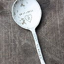 Personalised Ceramic Baby Spoon (Wedgewood Blue)