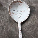 Personalised Ceramic Baby Spoon (Dusky Pink)