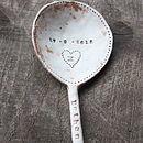 Personalised Ceramic Baby Spoon (Dusky Pink)